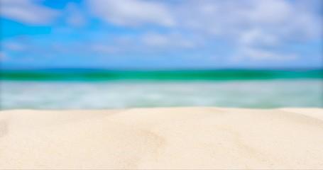 Wall Mural - Beach sand texture in summer sun sea background.