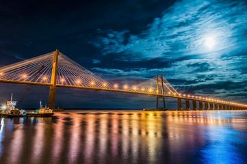 Papiers peints Amérique du Sud Rosario-Victoria Bridge across the Parana River, Argentina