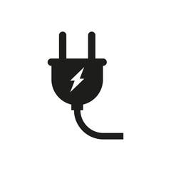 The plug icon. Simple vector illustration