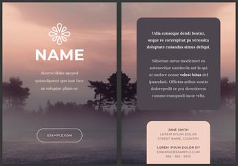 Modern Flyer Design Layout with Soft Pink Pastel Elements