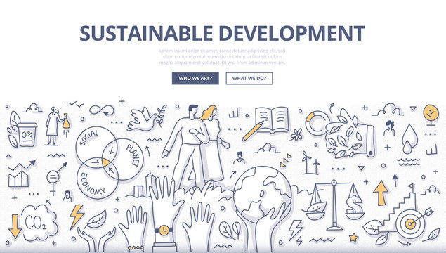 Sustainable Development Doodle Concept