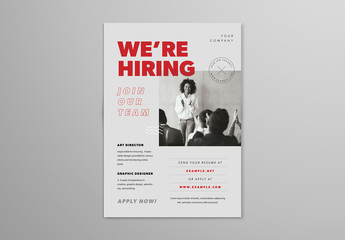 We Are Hiring Flyer Layout