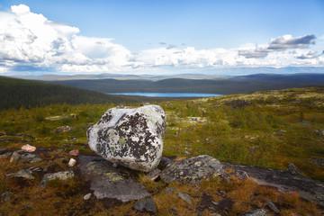 Lapland Zapovednik in autumn. Kola Peninsula. Russia