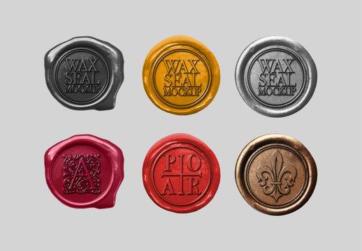 6 Wax Seals Mockup