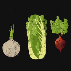 Gemüse, Kochbuch Vintage