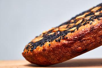Fotorolgordijn Brood homemade baked bread with cereals and seeds
