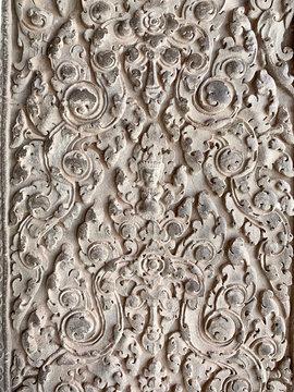 Pattern floral Devata, Angkor Wat