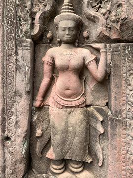 Devata rose de Preah khan
