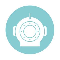 Isolated diver helmet block style icon vector design