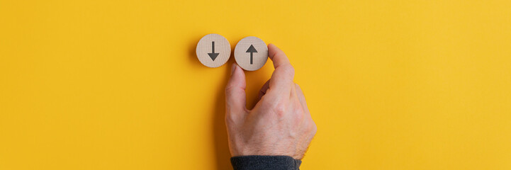 Conceptual image of choice and direction