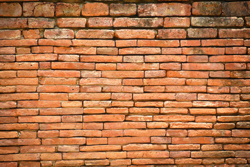 Brick wall background for vintage style exterior or architecture
