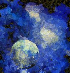 Fototapete - Exo-Solar Planet Painting
