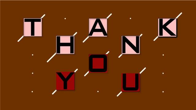 palabra gracias, thank you con fondo cafe en vectores