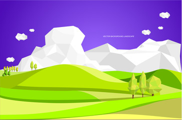 graphic vector illustration of landscape background. landscape abstract.