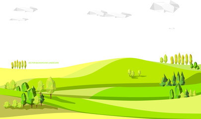 nature illustration. graphic vector illustration of landscape background. landscape abstract.