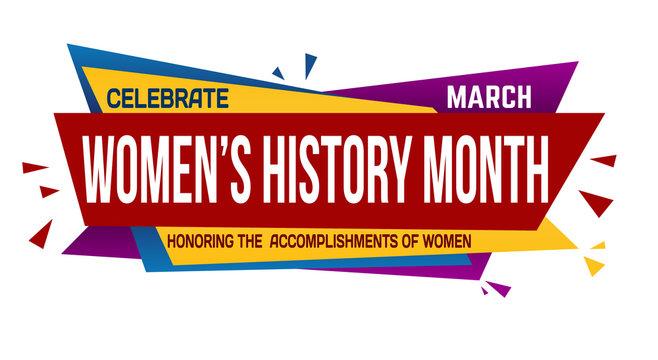 Women's history month banner design