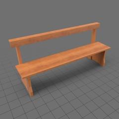 Pew bench with kneeler