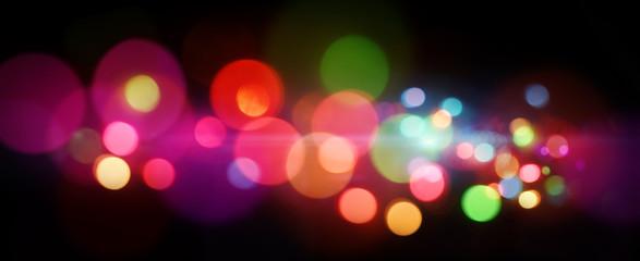 カラフルなイルミネーションライトの背景素材
