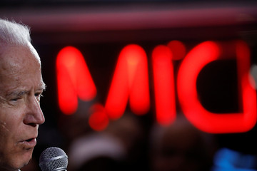 Democratic 2020 U.S. presidential candidate and former U.S. Vice President Joe Biden speaks during a campaign event at the Harbor Palace Seafood Restaurant in Las Vegas, Nevada