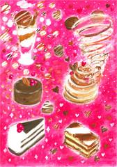 バレンタインのチョコレートスイーツ