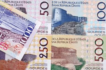 Haitian money - gourde a business background