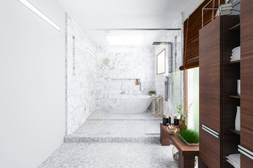 Modern Bathroom Integration (preview) - 3d visualization