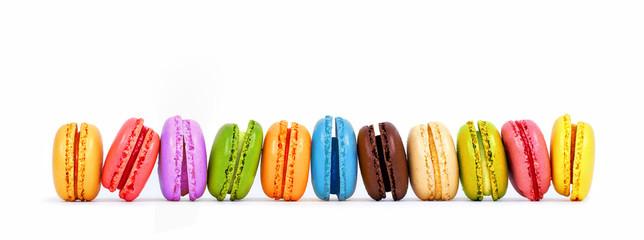 Fotorolgordijn Macarons bunte Macarons