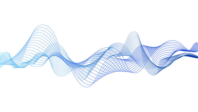Abstract colorful wave lines on background for elements in concept business presentation, Brochure, Flyer, Science, Technology. Vector illustration