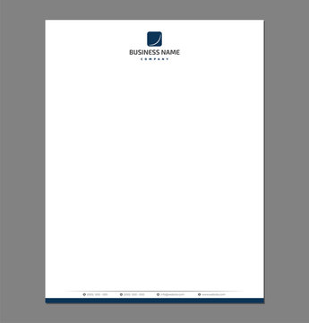 Blank Letterhead Template for Print with Minimal Corporate Logo