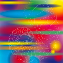 Foto op Plexiglas Spiraal Bunthintergrund Spirale