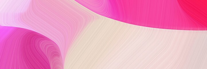 Spoed Foto op Canvas Roze header background texture with baby pink, deep pink and pastel pink color and modern soft swirl waves background design