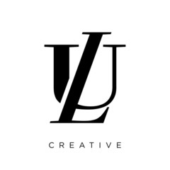 Obraz ul or lu logo design vector icon - fototapety do salonu
