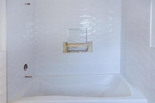 Modern design bathroom interior an open in shower
