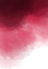 Dark burgundy, wine color watercolor background. Dark red luxury background.