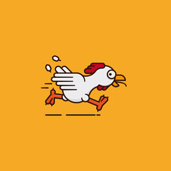 Running chicken vector illustration for Poultry Day