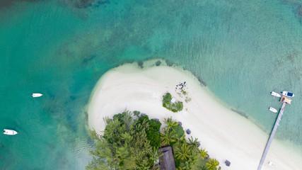 Wall Mural - Strand auf Mauritius von oben fotografiert