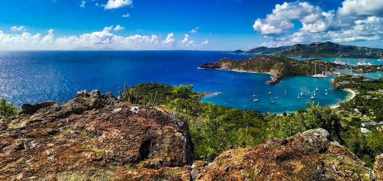 sea and blue sky of Antigua
