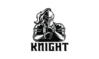 vector illustration of knight warior