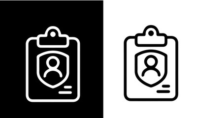Insurance - set of line icons vector desing black and white