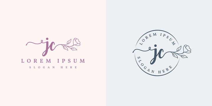 Initial jc feminine logo collections template - vector