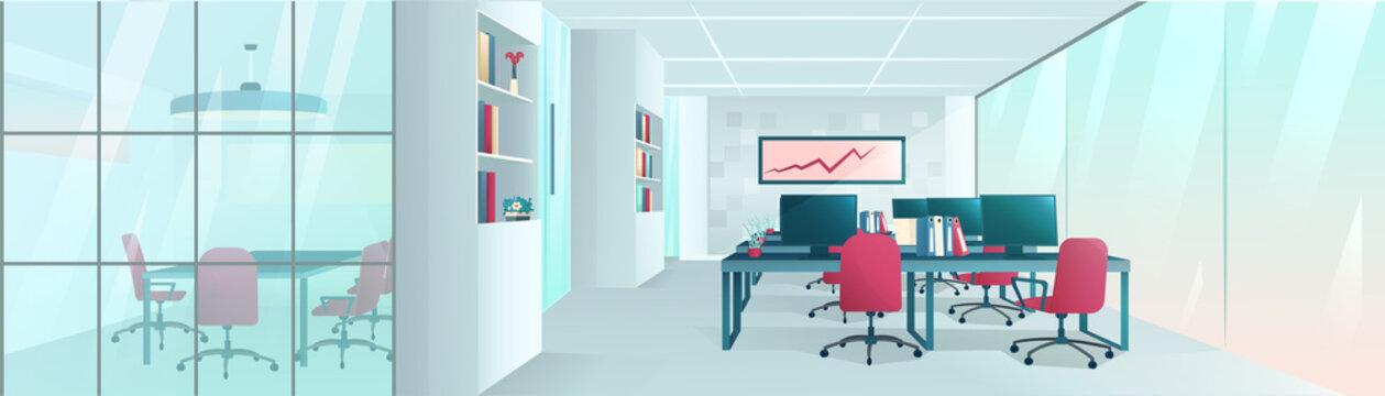 Vector of a modern office interior