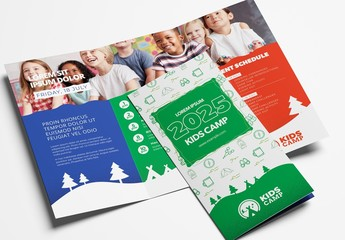 Kids Camp Trifold Brochure Layout