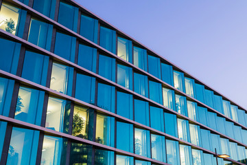 Germany, Baden-Wuerttemberg, Stuttgart, part of facade of office building at European Quarter