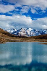 Wall Mural - Dhankar lake in Himalayas