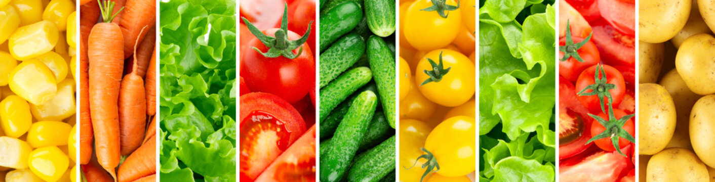 Background of vegetables. Fresh food
