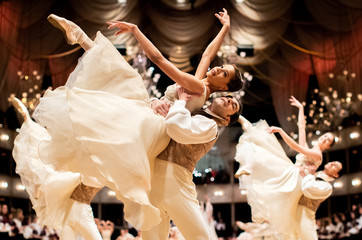 Dress rehearsal of the traditional Opera Ball in Vienna