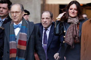Film producer Harvey Weinstein departs New York Criminal Court after the second day of jury deliberations in his sexual assault trial in the Manhattan borough of New York City