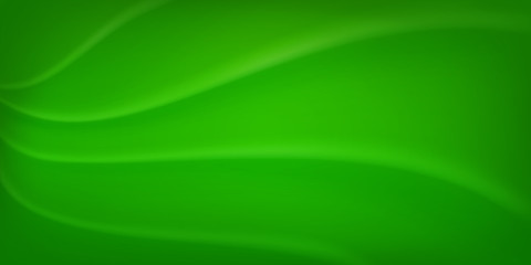Abstract background with wavy surface in green colors Wall mural