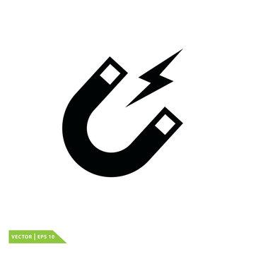 magnet icon vector logo design illustration