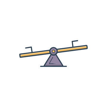 Color illustration icon for seesaw
